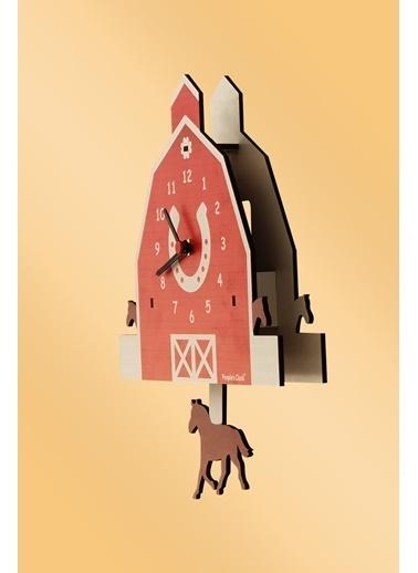 Peoples Clock Tay Sallanan Sarkaçlı Çocuk Odası Duvar Saati Renkli